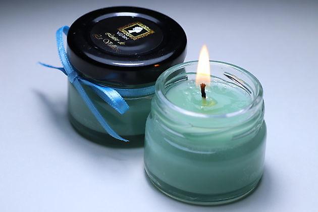 Luise de La Vallière spa candle blue - Verin Gellak